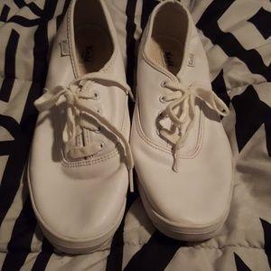 White leather Keds